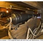 Bateria bajo cubierta de un barco. Museo de la Real Fábrica de Artillería. La Cavada. Cantabria.