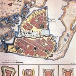 Plano de fortificaciones de Cartagena de Indias en el s.XVII
