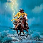 Llegada de Juan a Ramales en una noche tormentosa.